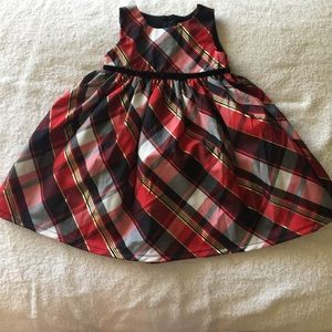 Size 12M fancy plaid dress